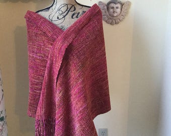 Handwoven Rayon Chenille Shawl