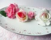 Reserved for Mike Large Serving Platter Vintage Noritake Mabel Pink Gray Rose