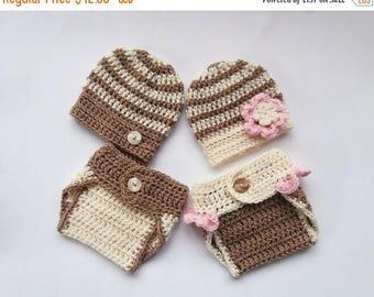 SALE 30% ON SALE Baby Twins Hospital Outfits_ NewBorn Baby Girl Twin Outfits _ Newborn Crochet Baby Twin Outfits _Photography Outfit Baby Tw