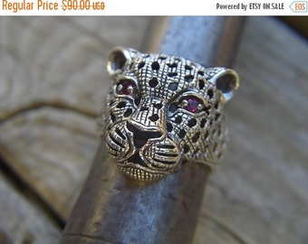 ON SALE Cheetah ring in sterling silver