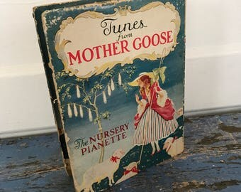 Vintage Tunes from Mother Goose Nursery Pianette Piano Xylophone 1930s