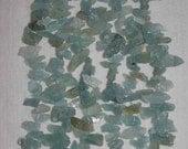 Aquamarine, Raw Aquamarine, Aquamarine Drops, Semi Precious, Rough Stone Drops, Gemstone Rough Drop, 1/4 Strand, 11-28 mm, AdrianasBeads