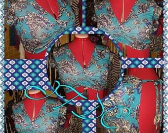 Lotus Short sleeve Choli L)