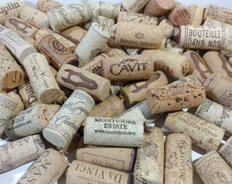 50 Natural Wine Corks Bulk Supply Ecofriendly Project Craft Set Wedding Party Place Card Holder Upcycle Recycle Repurpose Destash Home Decor