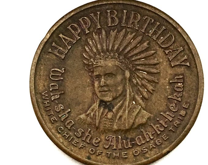Vintage Frank Phillips 66 Birthday Souvenir Token