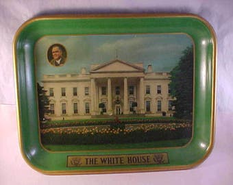Franklin D Roosevelt FDR The White House Serving Tray Political Collectible