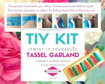 DIY Tassel Garland Kit, DIY Tassel Kit, tassel garlands, parties, shop display, photo shoot, Tropicana