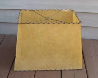 Vintage Parchment Lamp Shade, 1950s-60s, Whipstitch Edge, As-Is