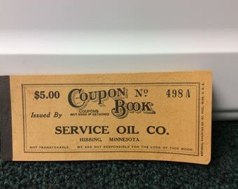 Gasoline Coupon Book from WW II