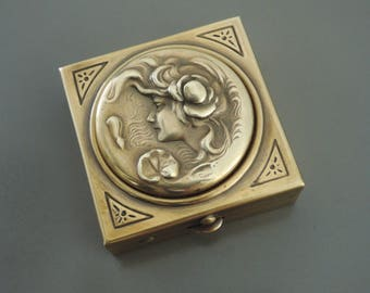 Art Nouveau Vintage Ring Dish - Vintage Ring Box - Art Nouvea Ring Box - Wedding Ring Box - Art Nouveau Jewelry Box - Ring Holder