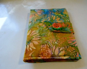 Orange Sunflower Batik Mini iPad/Nook Color Cover