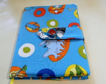 Blue Dr. Seuss Fabric Covered Journal