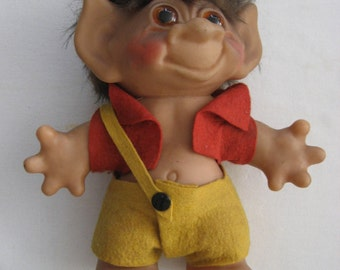 large vintage Danish Thomas Dam troll doll