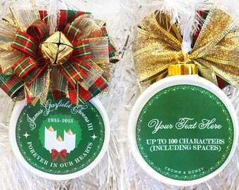 In Memory Of Ornament Custom Christmas Ornament Personalized Ornament In Remembrance Ornament In Loving Memory Ornament
