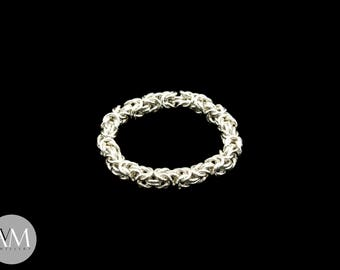 Micro Byzantine Full Ring in Sterling Silver