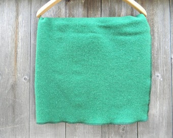 "100% Upcycled Wool Puddle Pad Changing Mat Puddle Mat Travel Mat Crib Protector Grass Green  33"" X 24"""
