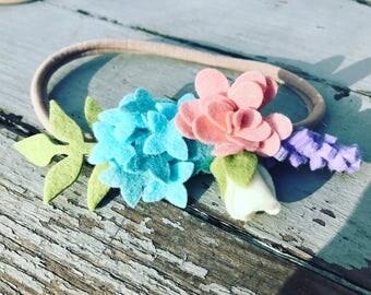 Spring Felt Flower Crown