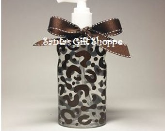 Leopard Print Hand Sanitizer, Easter,Teacher Gift, Personalized, Birthday Gift, Coach, Adults, Teens, Stocking Stuffer,Valentine's Day Gift