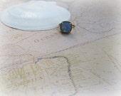 Air Blue Opal Cushion Cut ring, Adjustable ring