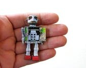 SALE retro japanese toy robot pin brooch