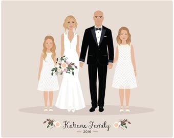 Custom Portrait, Wedding Portrait, family portrait, couple portrait