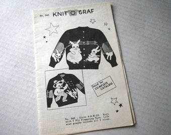 Rabbit & Farmer Knit O Graf Child Cardigan Pullover Sweater Knitting Pattern