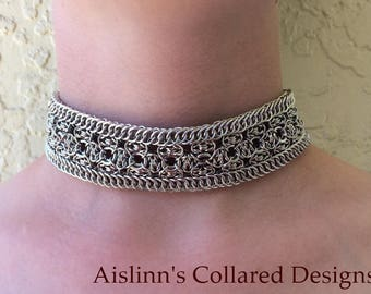 Valentina BDSM Gorean Slave Daywear Collar Choker Necklace