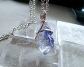 Blue Dumortierite Quartz Gemstone Crystal Pendant