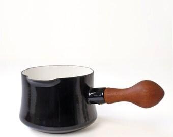 Vintage Black Dansk Kobenstyle Enamelware Pot