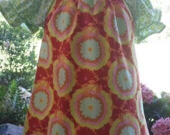 Little Girl Spring Peasant Dress, Easter Dress