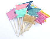 Scrappy Mini Felt Flag Bundle (Colors Vary For Each Order)