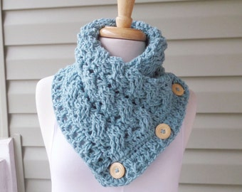 PATTERN C-027 / Crochet Pattern / COLBY Cowl ... worsted 300 yds