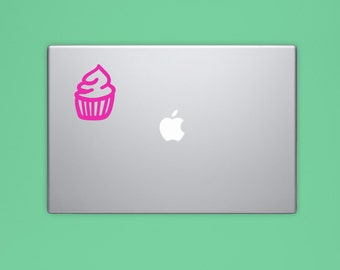 New! - CUPCAKE VINYL Decal, Bakery Decal, Illustrated Decal, Computer Decal, Vinyl Sticker