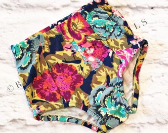 High Waisted Shorties in Boho Bloom