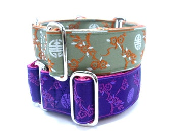 """Houndstown 1.5"""" Shanghai Martingale or Buckle Collar Size Small through X-Large"""
