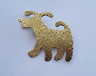 floppy eared dog brooch