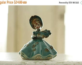 ON SALE Vintage Josef Originals September Doll of the Month, Petite Collectible Figurine, Porcelain Birthday Figurine, Made in Japan