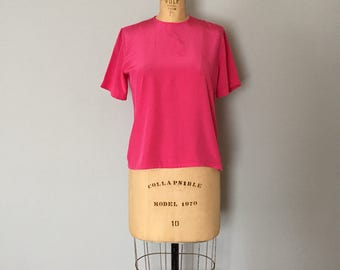 rose pink crop top | basic top