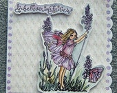 fairy greetings card (ref 396)