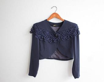 Vintage  Blue Ctop Jacket Blazer by Ami