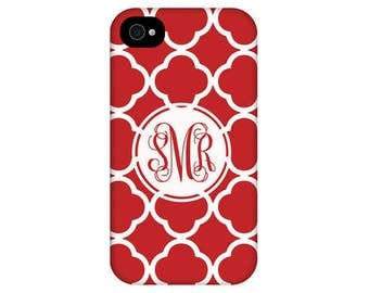 Personalized IPhone 7 clover pattern monogram other models available