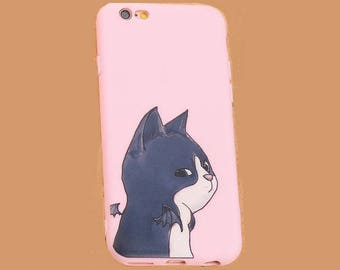 iPhone 6 case iphone 6S case iphone 6 plus iphone 6S plus case cover blue cat kitten kitty angel wings pet funny animal cute