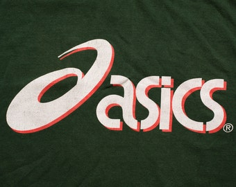 Asics Logo T-Shirt, Hip Hop, Spell Out Graphic Tee, Vintage 90s, Running Shoes Icon