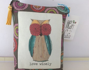"HE.art by CC Wise Owl Zippered Pouch ""LOVE Wisely"""
