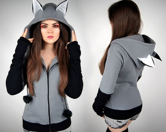 Black jacket with ears