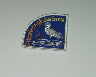 Vintage Pittsburgh Aviary Souvenir Travel Patch Sew On sm