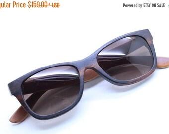 20% OFF Walker2012 Handmade Ebony And Box Wood Two Tone  Wooden Takemoto Sunglasses Glasses
