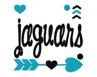 Jaguars // Football// Machine Embroidery Design // Sports Embroidery Design // Mascot Embroidery Design //Embroidery Design//Joyful Stitches