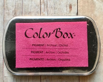 ColorBox Ink Pad Orchid Pigment Ink Full Size Rubber Stamping Heat Embossing Card Making Scrapbooking Mixed Media Clearsnap