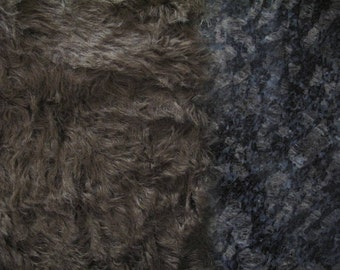 "1/4 yard - 18"" x 27""- Medium Density Mohair with Curly Finish - 1"" pile ANTIQUE BROWN color cheswickcompany"